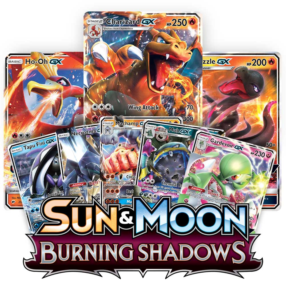 <b>Burning Shadows</b> Booster Pack - Sun & Moon - Pokemon TCG Online Codes
