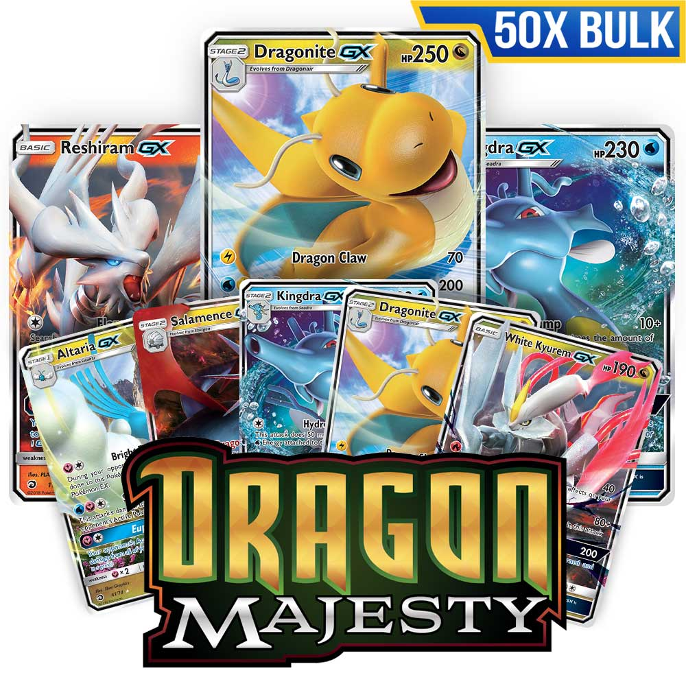Bulk 50x <b>Dragon Majesty</b> - Pokemon TCG Codes