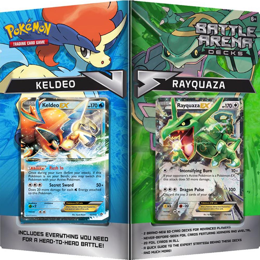 Rayquaza vs. Keldeo Battle Arena Decks - Pokemon TCG ...