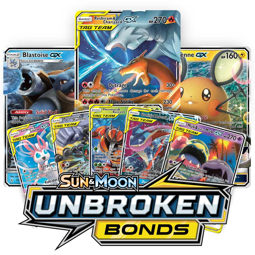 <b>Unbroken Bonds</b> Booster Pack - Sun & Moon - Pokemon TCG Online Codes