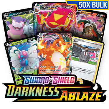 Bulk 50x <b>Darkness Ablaze</b> - Pokemon Code Cards