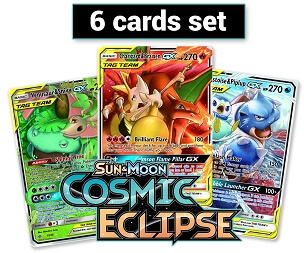 <b>Cosmic Eclipse 6 Cards set</b> - PTCGO Codes