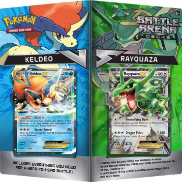 <b>Rayquaza vs. Keldeo Battle Arena Decks</b> - Pokemon TCG Code