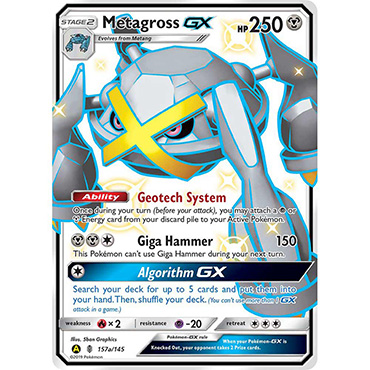 <b>Shiny Metagross-GX</b> - Pokemon TCG Code