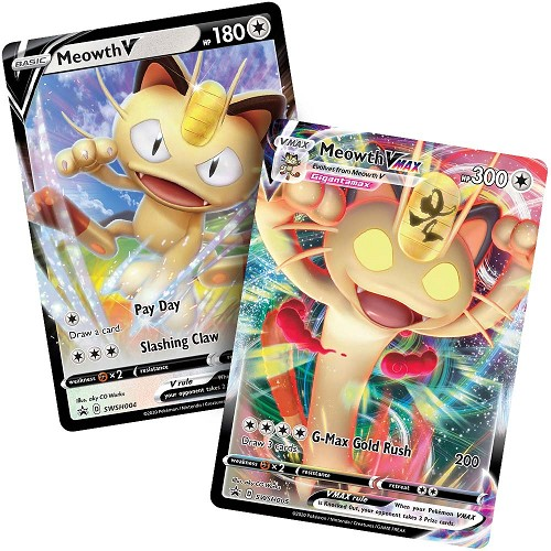 Meowth V & Meowth V MAX Premium Collection - Pokemon Code Cards