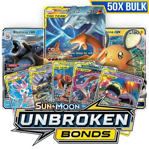 Bulk 50x <b>Unbroken Bonds</b> - Pokemon TCG Codes