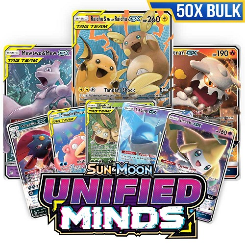 Bulk 50x <b>Unified Minds</b> - Pokemon TCG Codes