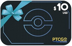 $10.00 USD Gift Card for PTCGO Codes